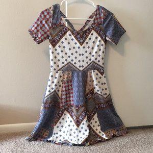 Multi colored babydoll dress